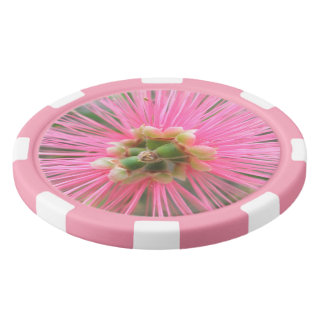 Pink Gum Tree Flower Poker Chips