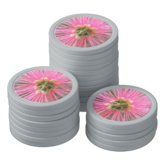 Pink Gum Tree Flower Poker Chips