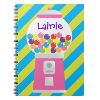 Pink Gumball Machine Personalized Notebook
