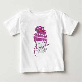 pink hair  anime style girl baby T-Shirt