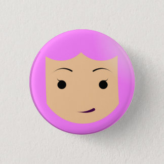 Pink-haired Princess 3 Cm Round Badge