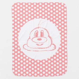 Pink & Half Drop Pattern 鲍 鲍 Baby Blanket