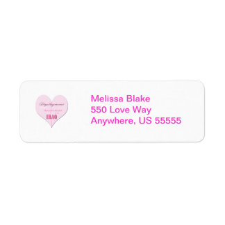 Pink Half Heart Deployment Iraq Return Adress Labe Return Address Label