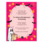 Pink Halloween Birthday Costume Party Invitation