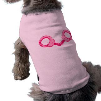 Pink Handcuffs Sleeveless Dog Shirt