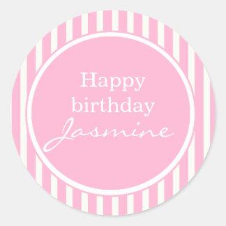 Pink Happy Birthday Sticker