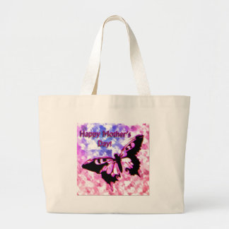 Pink Happy Mother s Day Design Canvas Bag