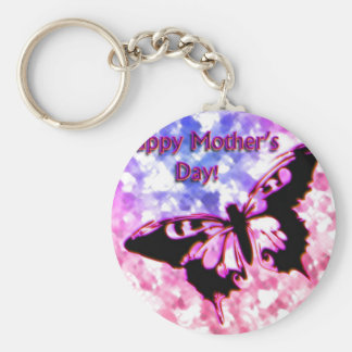 Pink Happy Mother's Day Design Key Chains