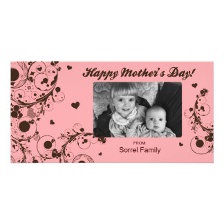 Pink Happy Mother's Day Photo Card Template