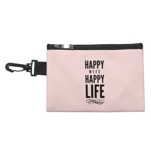 Pink Happy Wife Marriage Quote Wisdom Accessory Bag