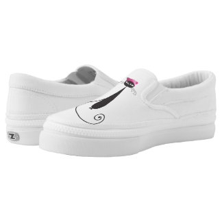 Pink Hat Kitty Cat Slip-On Shoes