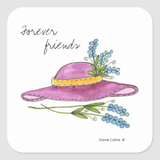 Pink Hat Sticker