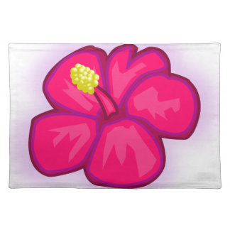 Pink Hawaii Flower Placemat