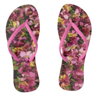 Pink Hawaiian Flower Leis Thongs