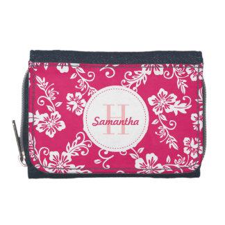 Pink Hawaiian Monogram Personalized Girls Wallet