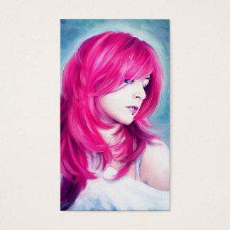 Pink Head sensual lady oil portrait painting art