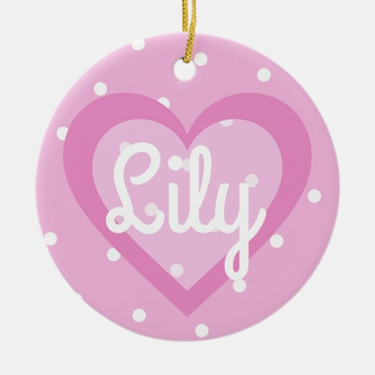 Pink Heart/1st Christmas Dble-sided Ornament