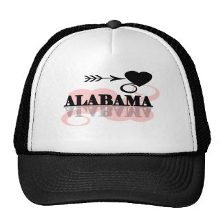 Pink Heart Alabama Mesh Hat