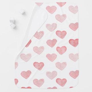pink heart baby blanket