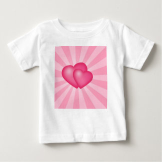 Pink Heart Background Baby T-Shirt
