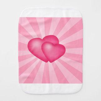 Pink Heart Background Burp Cloth