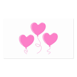 Pink Heart Balloons. Double-Sided Standard Business Cards (Pack Of 100)