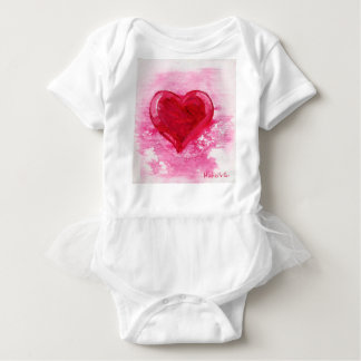 Pink Heart Bodysuit with Tutu For Infant & Baby