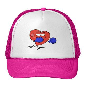 Pink Heart Boxing Trucker Hat