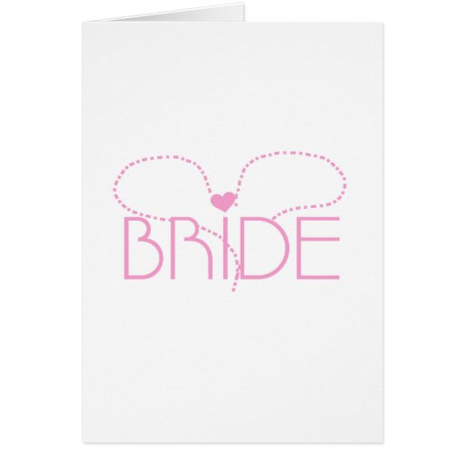 Pink Heart Bride T-shirts and Gifts Cards
