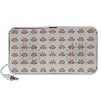 Pink Heart Buds Mp3 Speaker