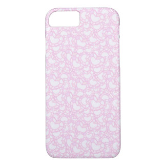 PINK HEART CARTOON iPhone 7, Barely There iPhone 7 Case