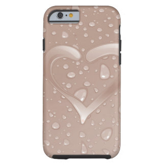 Pink Heart Tough iPhone 6 Case