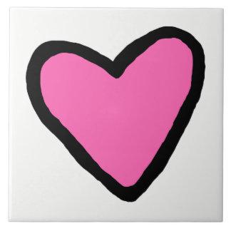 Pink Heart Ceramic Tile