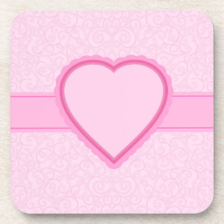 pink heart coaster