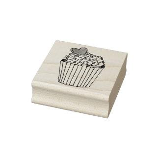 Pink Heart Cupcake Sprinkles Love Wedding Stamp