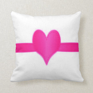 pink heart custom background colour/text/name cushion