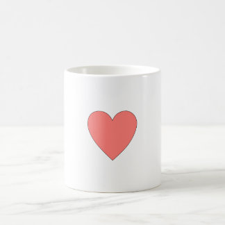 Pink Heart Customizable Basic White Mug