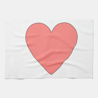Pink Heart Customizable Kitchen Towels