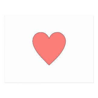 Pink Heart Customizable Postcard