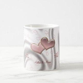 Pink Heart Cute Personalized Mug