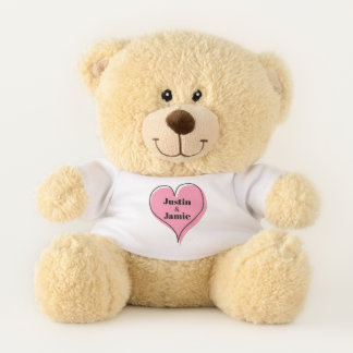 Pink Heart Cuteness Teddy Bear