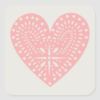 Pink Heart Cutout Sticker