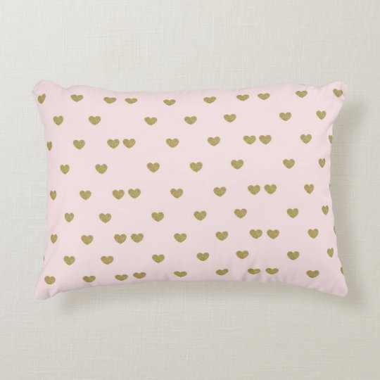 Pink Heart Decorative Cushion