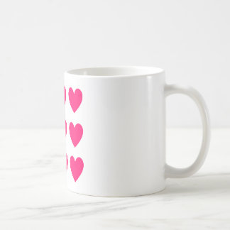 Pink Heart Design Coffee Mug