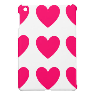 Pink Heart Design Cover For The iPad Mini