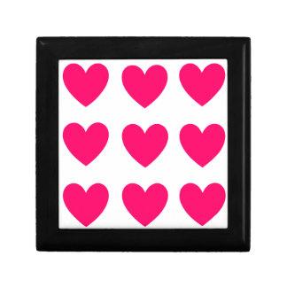 Pink Heart Design Gift Box