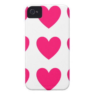 Pink Heart Design iPhone 4 Cover