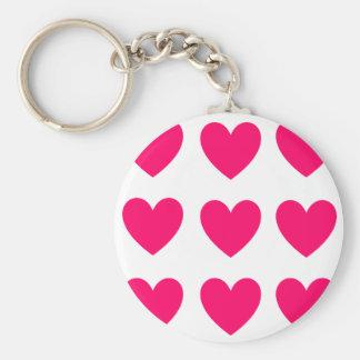 Pink Heart Design Key Ring