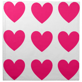 Pink Heart Design Napkin