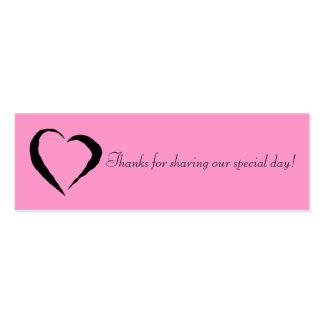 Pink Heart Favor Tag Business Card Templates